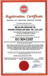 BİLSA BİLGİSAYAR ISO 3834_2_2007 KAYNAK
