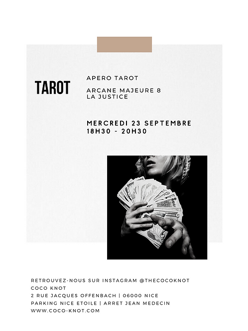 APERO - TAROT - La Justice