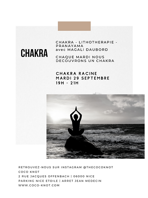 CHAKRA Racine - Lithothérapie - Pranayama