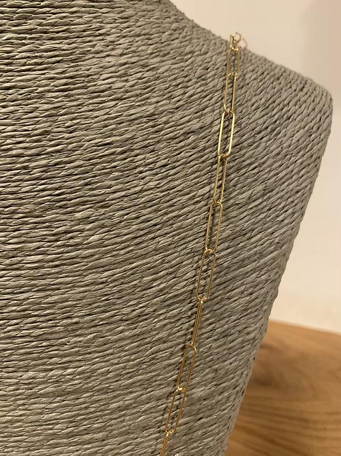 Chaine Maille allongée Large Plaqué Or 55cm