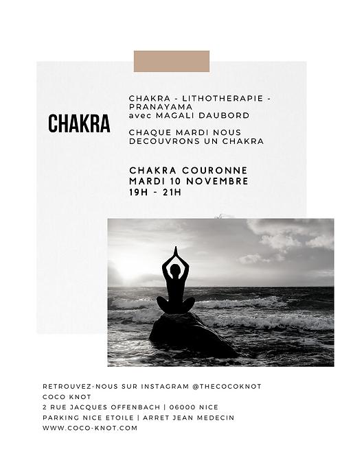 CHAKRA Couronne - Lithothérapie - Pranayama
