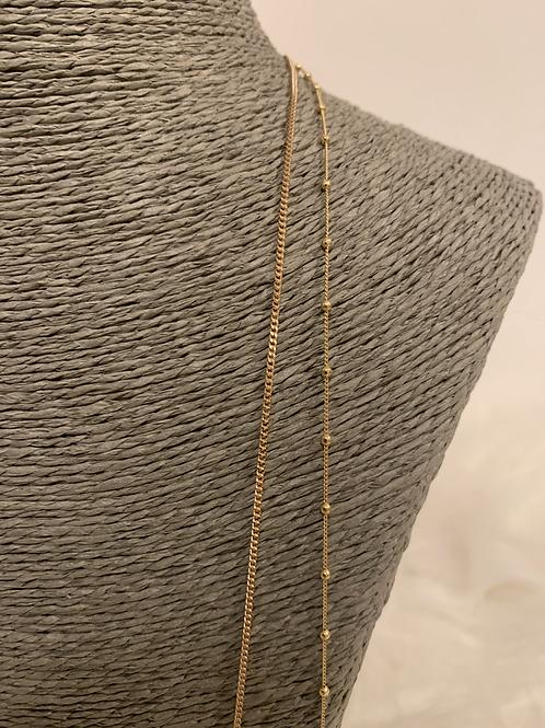 Chaine double plaqué Or 65cm