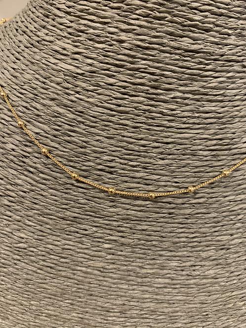 Sautoir Perle 80cm plaqué Or - Chaine vendue seule