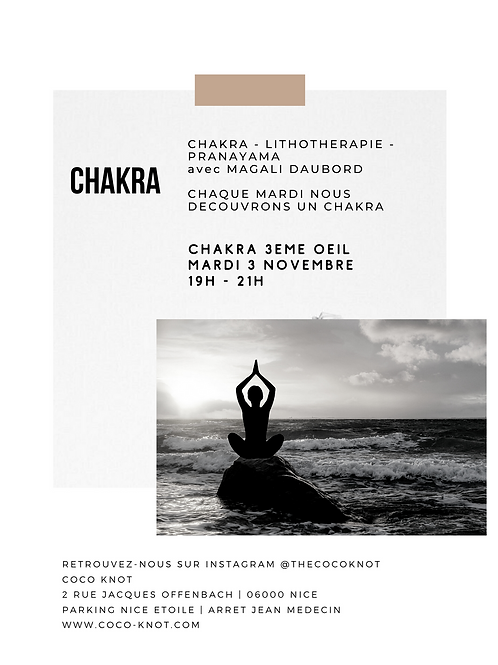 CHAKRA 3ème Oeil - Lithothérapie - Pranayama