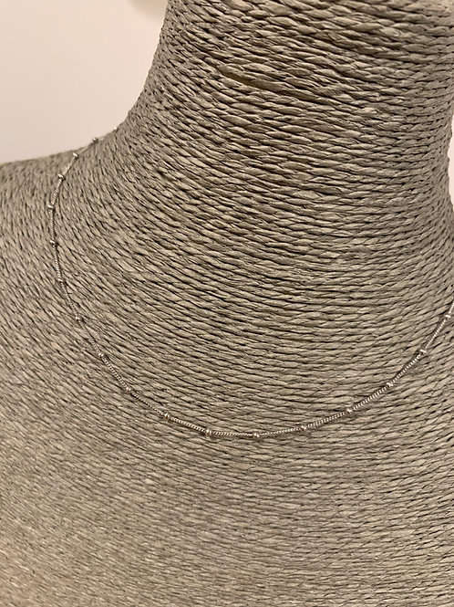 Sautoir Argent rodhié 80 cm