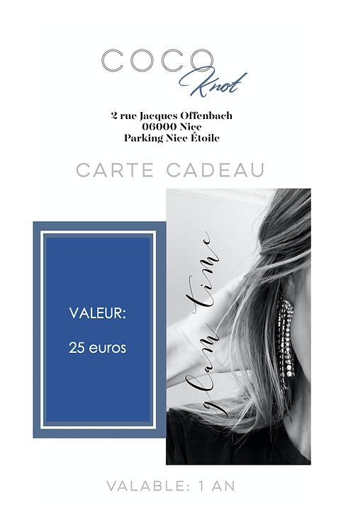 Carte Cadeau - 25 Euros