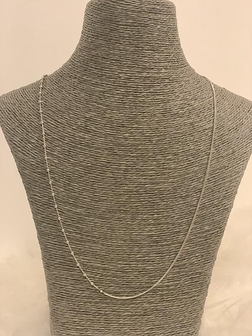 Chaine Double Argent 65 cm