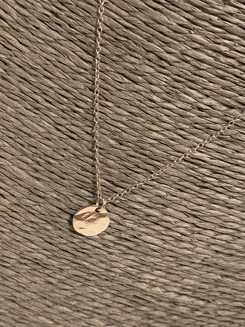 Chaine argentée simple avec médaillon 60cm