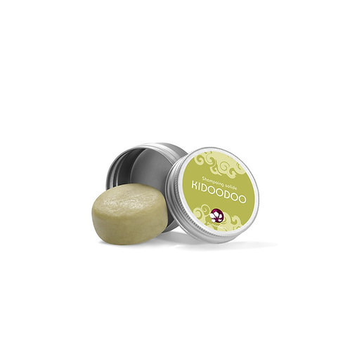 SHAMPOING SOLIDE KIDOODOO - FORMAT VOYAGE – BOITE METAL – 25G