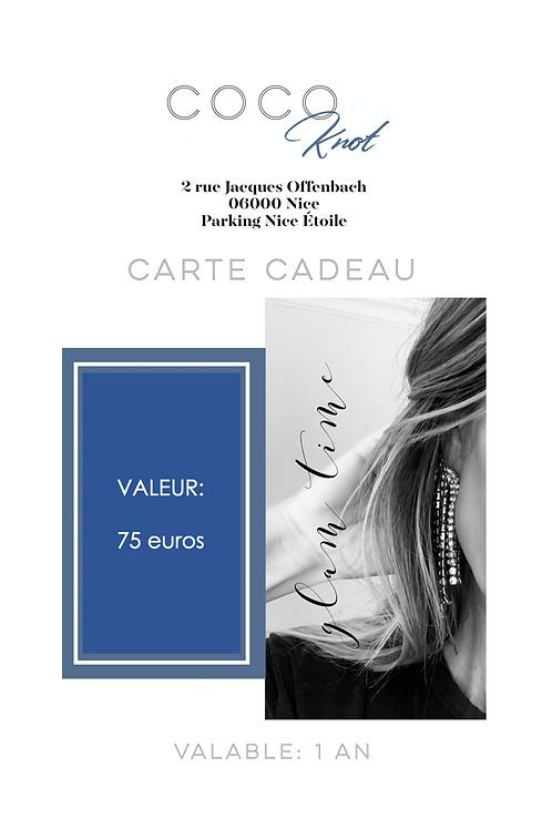 Carte Cadeau - 75 Euros
