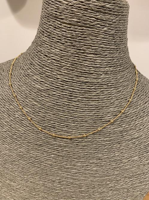 Chaine Perle 40cm en plaqué Or