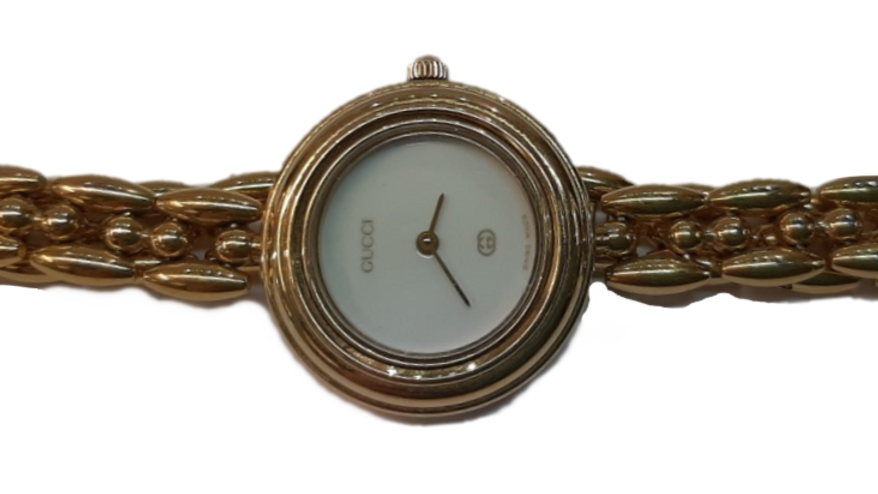 Gucci Gold Plated Ladies Watch 1100L