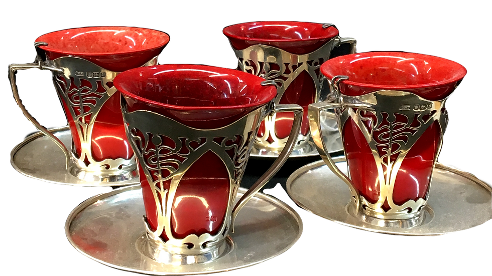 Royal Doulton Flambe Ware Coffee Set