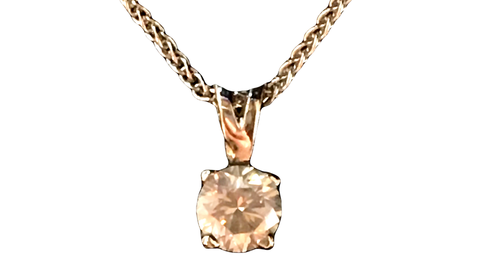 Platinum  0.35ct Diamond Pendant
