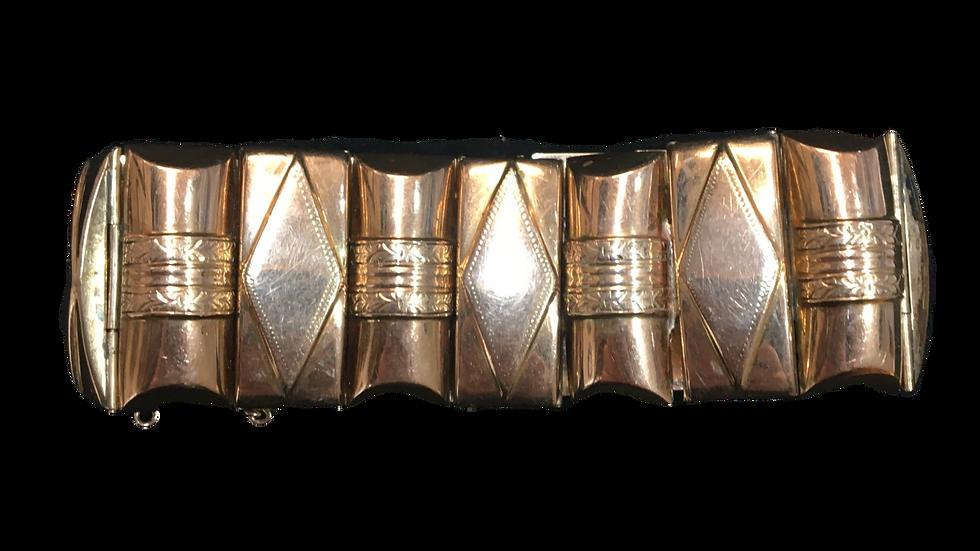 Art Deco 14ct Yellow Gold Bracelet C.1925
