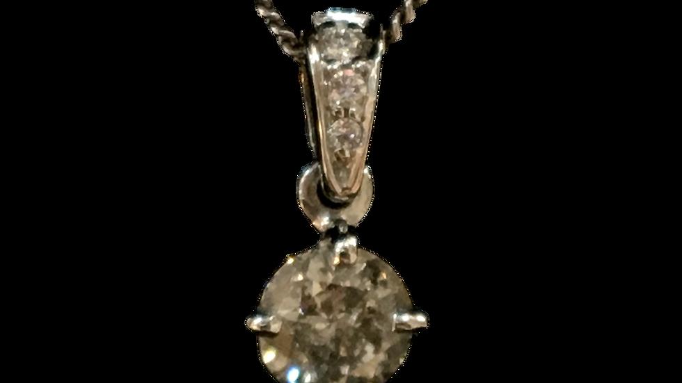 Platinum 0.50ct Diamond Pendant