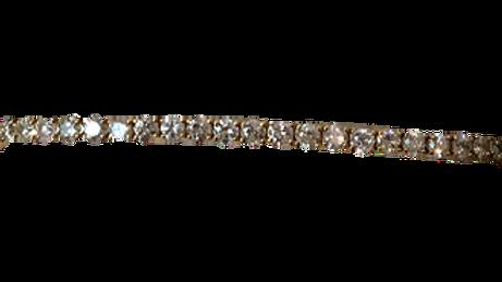 14ct Yellow Gold Diamond Bracelet
