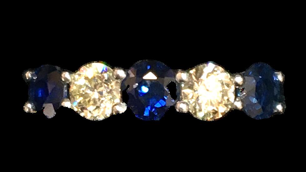 18ct White Gold Sapphire & Diamond