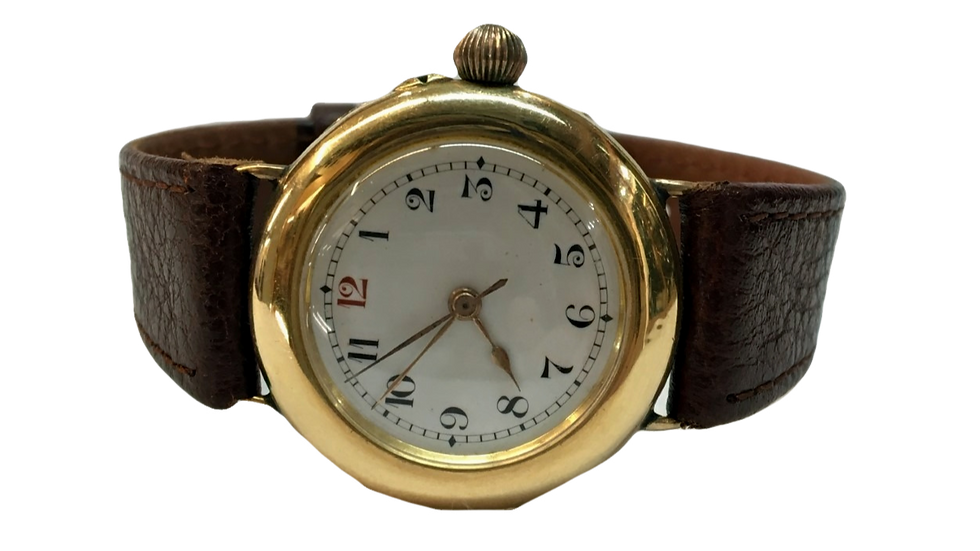 18ct Yellow Gold Antique Watch Mechanical C.1910
