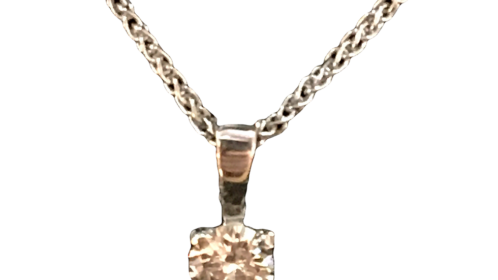 Platinum  0.18ct Diamond Pendant