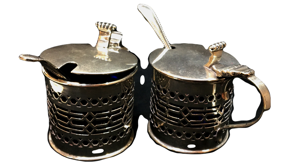 Silver Mustered Pots C.1911