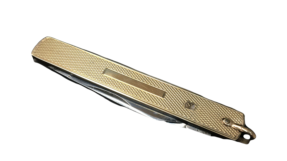 Gold Plated Stainless Steel Pocket Knife