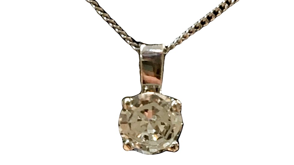 Platinum  0.28ct Diamond Pendant