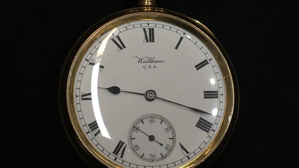 18ct Gold Cased Waltham Pocket Watch C.1918