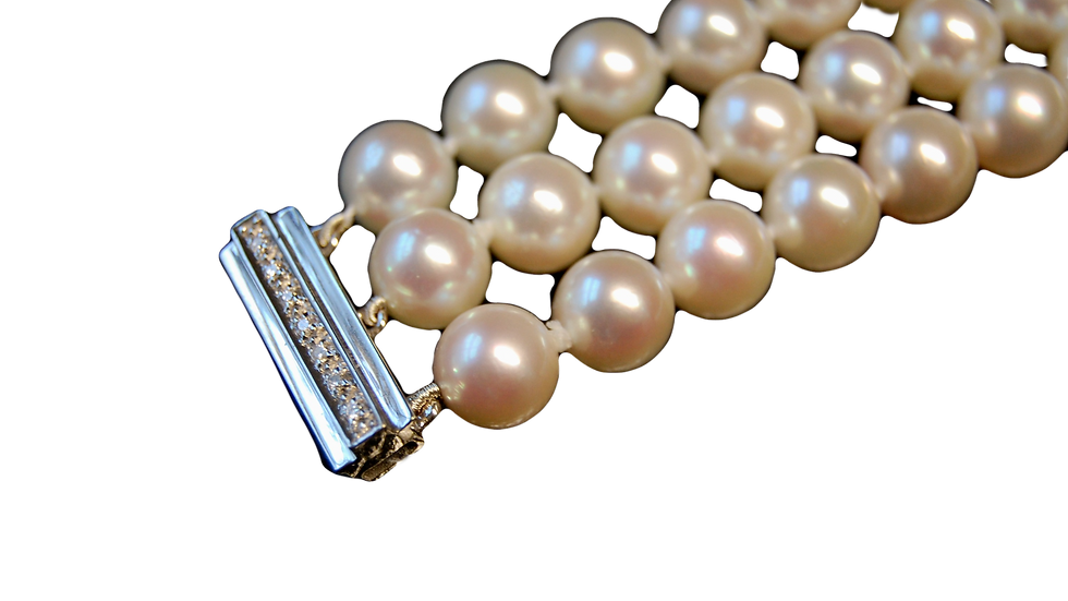 3 Row Pearl Bracelet