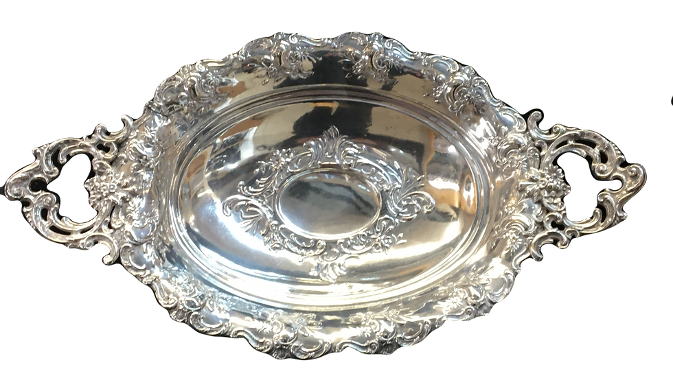 Silver Detailed Serving Dish