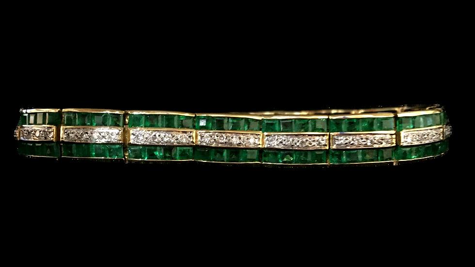 18ct Yellow Gold Emerald Bracelet