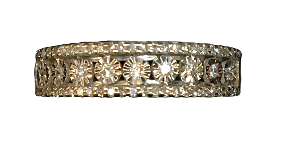 9ct White Gold 0.20ct Diamond Ring
