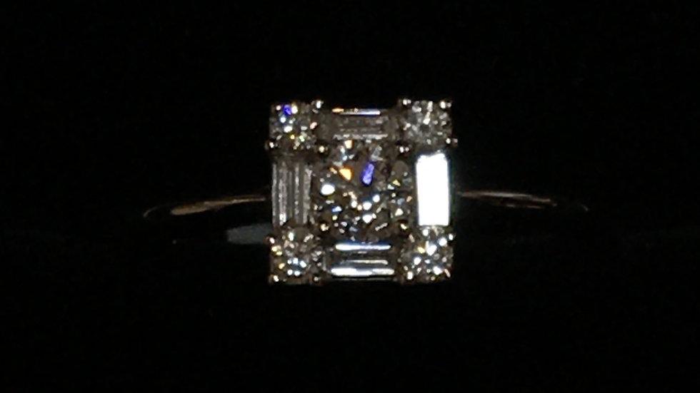 18ct White Gold 0.56ct Diamond Ring