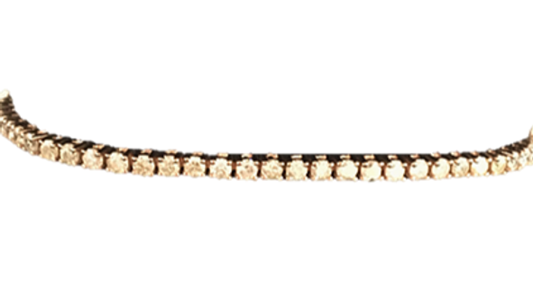 9ct Rose Gold tennis Bracelet