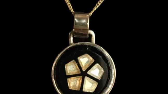 9ct Yellow Gold Glass Pendant