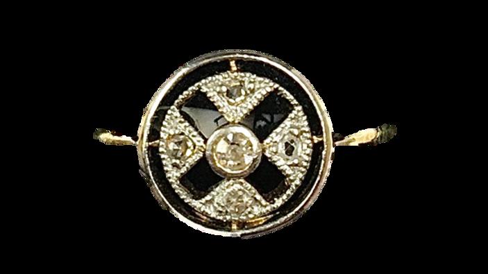 18ct Yellow Gold Diamond Art Deco Ring