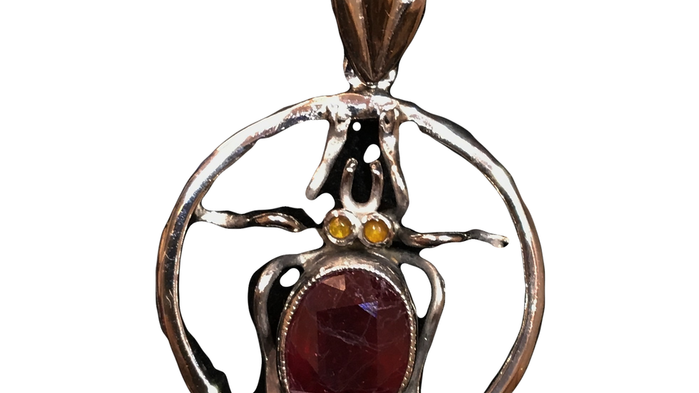 18ct White Gold Ruby Necklace C.1920