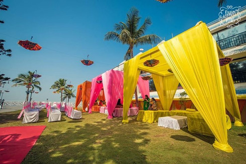 Colorful Canopies for pool party