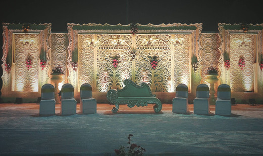 Royal Reception stage decor