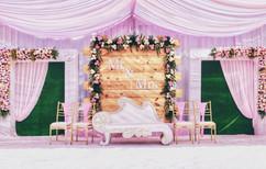 Simple & Elegant Reception Stage