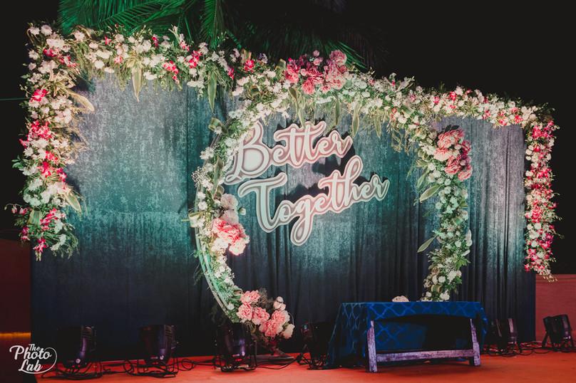 Rich Floral Stage decor