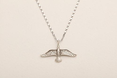 Uzun Kanatlı Efsanevi Anka Kuşu Gümüş Renk