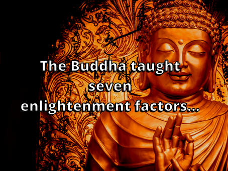 The Buddha Taught Seven Enlightenment Factors