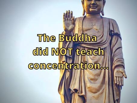 The Buddha did NOT Teach Concentration