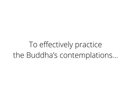 To effectively practice...