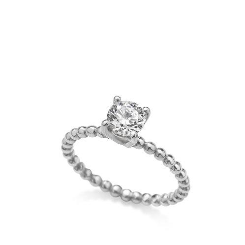 anel solitário caviar