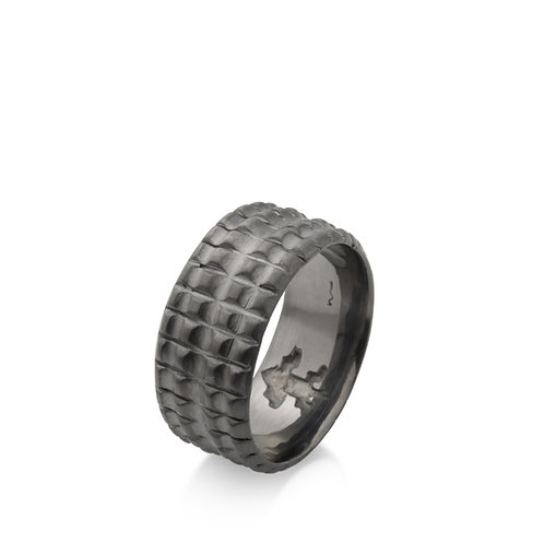 anel croco negro