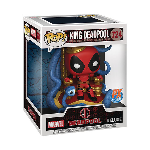 Funko Pop-King Deadpool on Throne-PX Exclusive