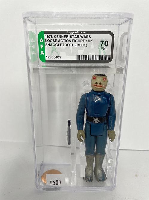 Star Wars Kenner Blue Snaggletooth AFA 75
