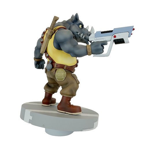 PCS Collectibles-TMNT  1:8 Rocksteady Scale PVC Statue